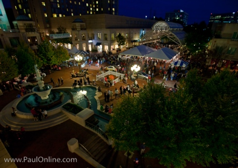 Reston Town Center at Night, at Oktoberfest Reston 2009