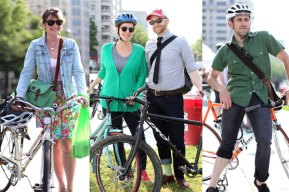 Bicycle commuters on Bike to Work Day- May 18